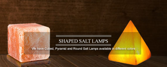 Shaped Himalayan Salt Lamps - cubed, round and other shapes available